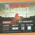 Boston Red Sox 2015 Pocket Schedule 3rd Edition Hood Milk