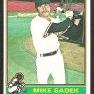 1976 Topps Baseball Card # 234 San Francisco Giants Mike Sadek vg