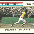 WORLD SERIES #6 METS ATHLETICS 1974 TOPPS 477 REGGIE JACKSON