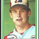Montreal Expos Charlie Lea 1981 Topps Baseball Card # 293 nr mt