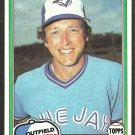 Toronto Blue Jays Bob Bailor 1981 Topps Baseball Card # 297 nr mt