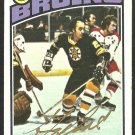 BOSTON BRUINS GARY DOAK AUTOGRAPHED 1976 TOPPS # 1