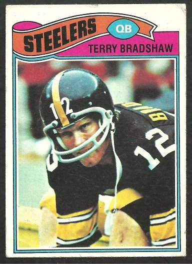 PITTSBURGH STEELERS TERRY BRADSHAW 1977 TOPPS #245 VG