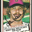 BOSTON RED SOX TOM HOUSE AUTOGRAPHED 1976 TOPPS # 231T