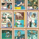 1983 Topps Los Angeles Angels Team Lot 26 Rod Carew Reggie Jackson Don Baylor Luis Tiant
