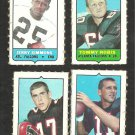 1969 Topps 4 in 1 Atlanta Falcons Team Lot Tommy Nobis Randy Johnson Jerry Simmons Nick Rassa