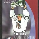 CAROLINA STINGRAYS 2001 - 02 POCKET SCHEDULE KELLY CUP CHAMPIONS GOOD GUYS WICKED HOCKEY