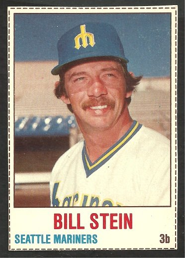 SEATTLE MARINERS BILL STEIN 1978 HOSTESS SHORT PRINT # 39