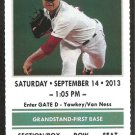 New York Yankees Boston Red Sox 2013 Ticket Jon Lester Victorino Napoli Gomes