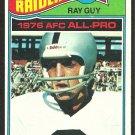 OAKLAND RAIDERS RAY GUY 1977 TOPPS # 320 VG