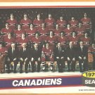 MONTREAL CANADIENS 1980 TOPPS TEAM PHOTO INSERT