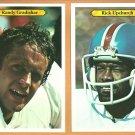 DENVER BRONCOS # 24 RANDY GRADISHAR # 28 RICK UPCHURCH 1980 TOPPS SUPER