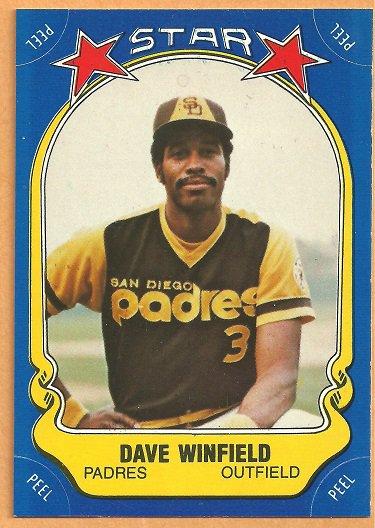 SAN DIEGO PADRES DAVE WINFIELD 1981 FLEER STAR STICKER #25