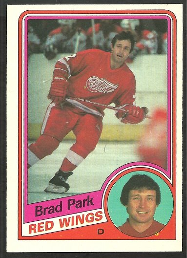DETROIT RED WINGS BRAD PARK 1984 OPC # 63 EX/NM O PEE CHEE