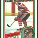 NEW JERSEY DEVILS PAT VERBEEK ROOKIE CARD RC 1984 OPC # 121 NM O PEE CHEE