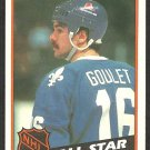 QUEBEC NORDIQUES MICHEL GOULET ALL STAR 1984 TOPPS # 153 NM