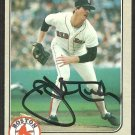 BOSTON RED SOX JOHN TUDOR AUTOGRAPHED 1983 FLEER # 198