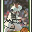 BOSTON RED SOX JOHN TUDOR AUTOGRAPHED 1983 DONRUSS # 563