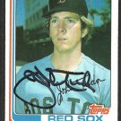 BOSTON RED SOX JOHN TUDOR AUTOGRAPHED 1982 TOPPS # 558