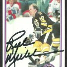 BOSTON BRUINS RICK MIDDLETON SIGNED AUTOGRAPHED 1981 TOPPS # 129