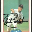 BOSTON RED SOX MIKE BODDICKER AUTOGRAPHED 1989 SCORE # 549