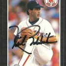 BOSTON RED SOX MIKE BODDICKER AUTOGRAPHED 1989 DONRUSS # 612