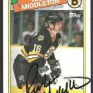BOSTON BRUINS RICK MIDDLETON SIGNED AUTOGRAPHED 88/89 TOPPS #87