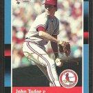 ST LOUIS CARDINALS JOHN TUDOR AUTOGRAPHED 1988 DONRUSS # 553