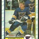 ST LOUIS BLUES BRETT HULL 1989 TOPPS #186 NR MT/MT+