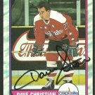WASHINGTON CAPITALS DAVE CHRISTIAN AUTOGRAPHED 1989 TOPPS #159