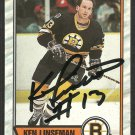 BOSTON BRUINS KEN LINSEMAN AUTOGRAPHED 1989 OPC # 62 NR MT