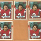 5 Card Lot New England Patriots Doug Flutie 1989 Topps Football Card # 198