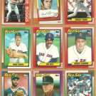 1990 Topps Boston Red Sox Team Lot 30 Roger Clemens Wade Boggs Jim Rice +