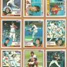 1983 Topps Cleveland Indians Team Lot 21 Andre Thornton Mike Hargrove Bert Blyleven Rick Sutcliffe +