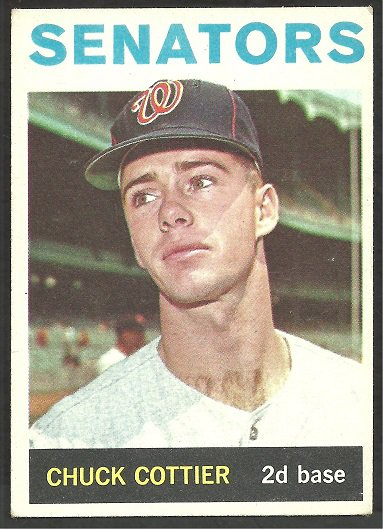 WASHINGTON SENATORS CHUCK COTTIER 1964 TOPPS # 397 EX