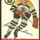 BOSTON BRUINS CAL GARDNER 1954 TOPPS # 47 ex+