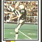 PHILADELPHIA EAGLES BILL BRADLEY 1973 TOPPS # 170 VG