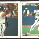 TORONTO BLUE JAYS KELLY GRUBER GEORGE BELL 1991 HITMEN STICKERS