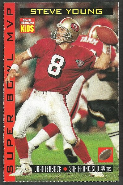 SAN FRANCISCO 49ers STEVE YOUNG 1998 SPORTS ILLUSTRATED FOR KIDS SPECIAL SUPER BOWL MVP