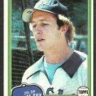Chicago White Sox Jim Morrison 1981 Topps Baseball Card # 323 nr mt