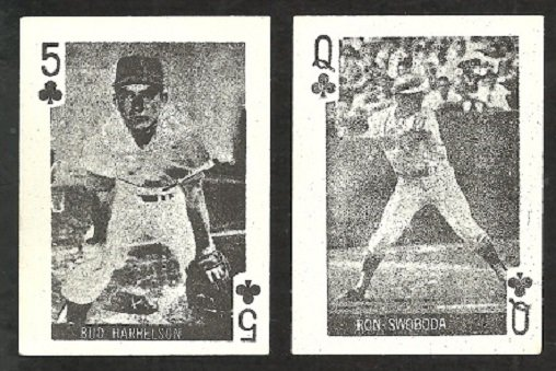 NEW YORK METS BUD HARRELSON RON SWOBODA 1969 GLOBE IMPORTS CARDS