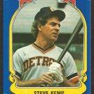 1981 FLEER STAR STICKER CARD # 7 DETROIT TIGERS STEVE KEMP
