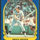 1981 FLEER STAR STICKER CARD # 8 SEATTLE MARINERS BRUCE BOCHTE