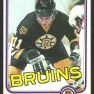 Boston Bruins Steve Kasper RC Rookie Card 1981 Topps Hockey Card # 168 nr mt