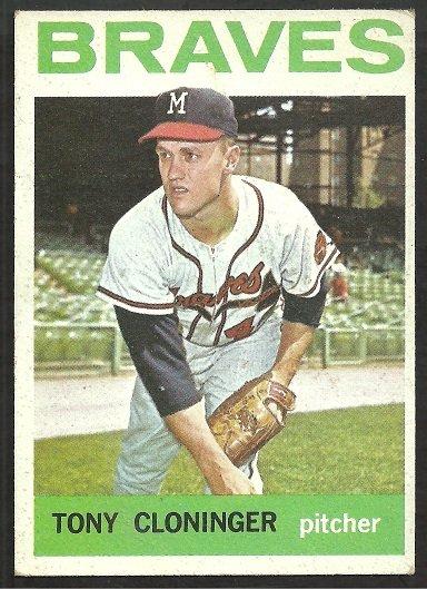 Milwaukee Braves Tony Cloninger 1964 Topps Baseball Card # 575 ex