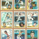 Houston Astros Team Lot 1983 Topps Jose Cruz Terry Puhl Ray Knight Art Howe Joe Sambito