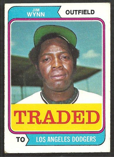 Los Angeles Dodgers Jim Wynn 1974 Topps Traded Baseball Card # 43t vg/ex