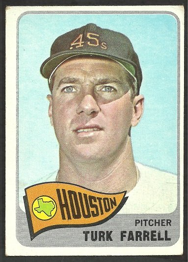 Houston Colt 45s Colts Astros Turk Farrell 1965 Topps Baseball Card # 80 vg
