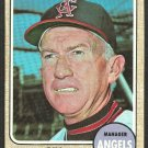 California Angels Bill Rigney 1968 Topps Baseball Card # 416 vg
