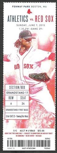 Oakland Athletics Boston Red Sox 2015 Ticket Rusney Castillo HR Josh Reddick Canha Bogaerts
